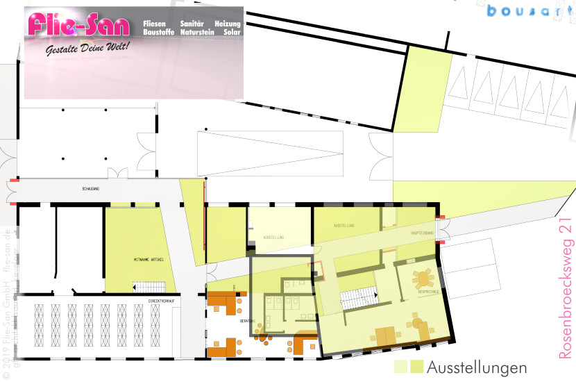 Galerie Profil Flie-San • geplant & umgesetzt